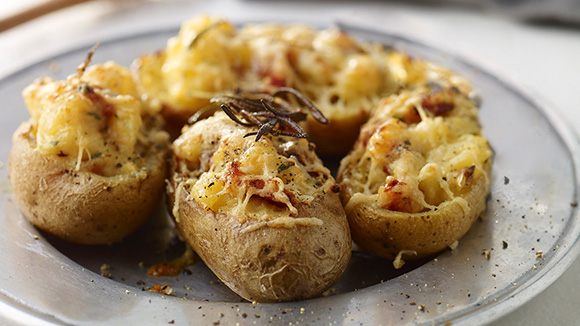 Twice Baked Potatoes Carbonara