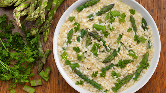 Gluten Free Asparagus & Lemon Risotto
