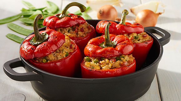 Gluten Free Bell Peppers Stuffed with Risotto