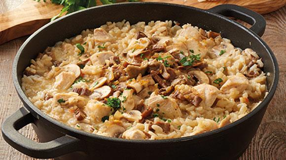 Gluten Free Chicken & Mushroom Risotto