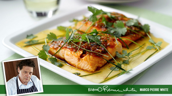 Salmon Fillet with Vinaigrette