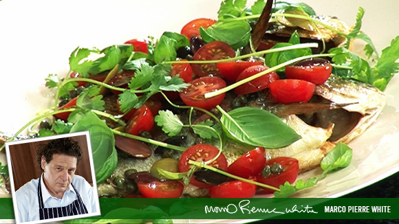 Sea Bream with Cherry Tomatoes