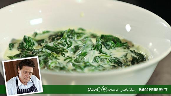 Simple Horseradish Spinach