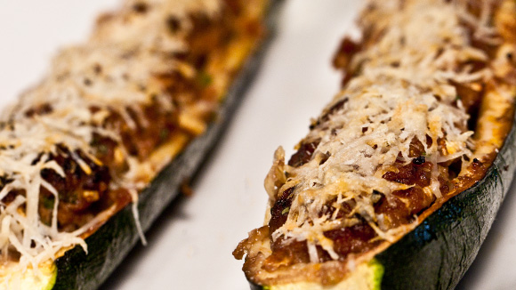 Beef-Stuffed Courgettes