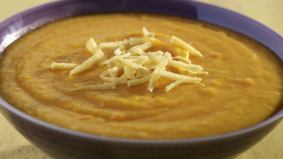 Cream of Carrot Soup with Ginger