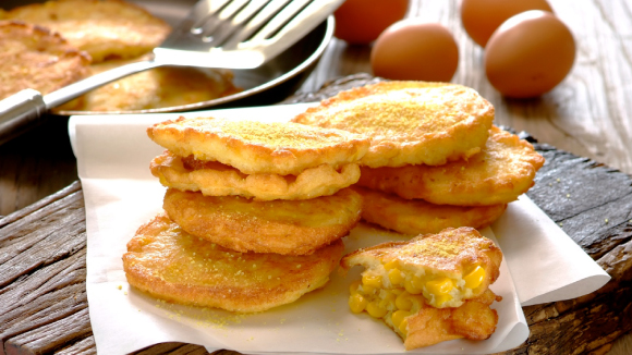 Egg And Corn Fritters