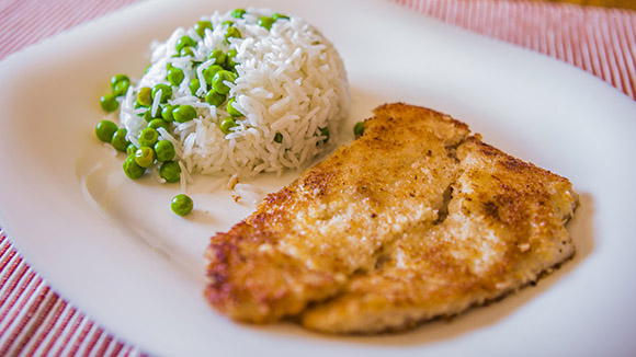 Marinated Fish Fillet with Coconut Crust