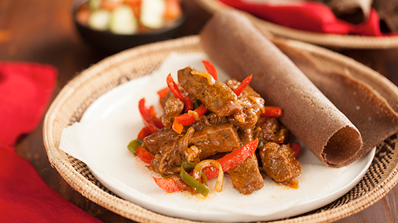 Ethiopian sauteed lamb or beef