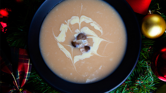 Wild mushroom and sherry soup