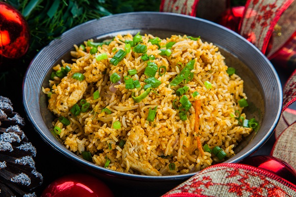 Caribbean Peanut Chicken Rice