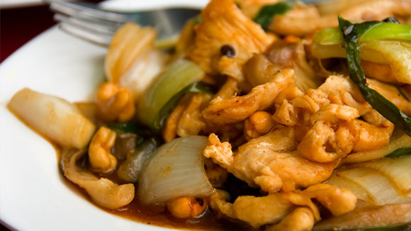 Ginger Chicken and Cashew Stir Fry