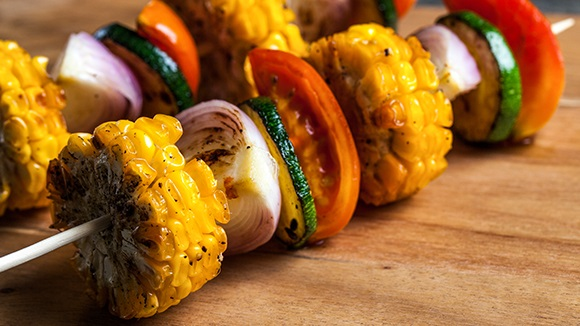 Chicken flavored Corn kebabs