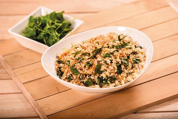 Crispy Dhal and Gotukola Rice