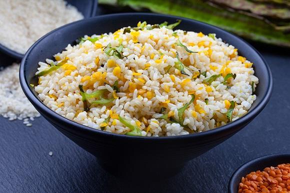 Dambala (Winged Bean) & Dhal Rice