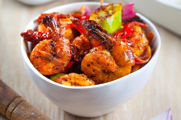 Dried Tomato and Prawns
