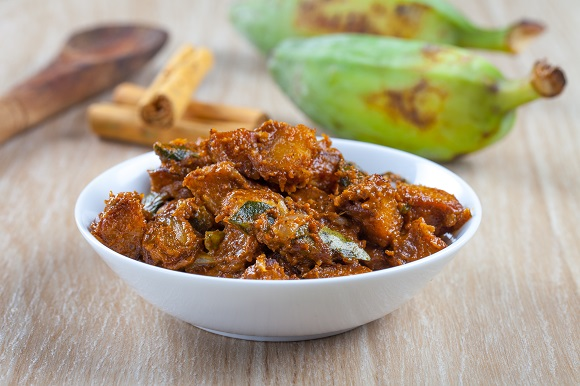 Fried Ash Plantain Curry