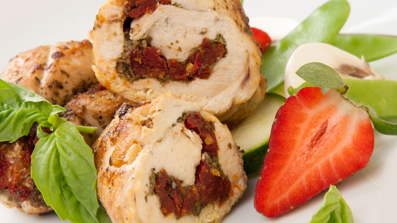 Honey Glazed Chicken Roulade with Pan Gravy
