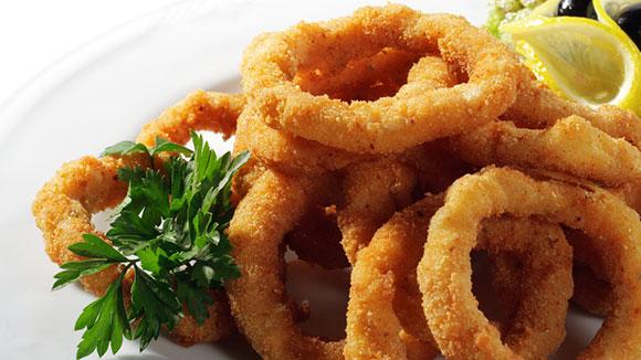 Hot Garlic Fried Squid Rings
