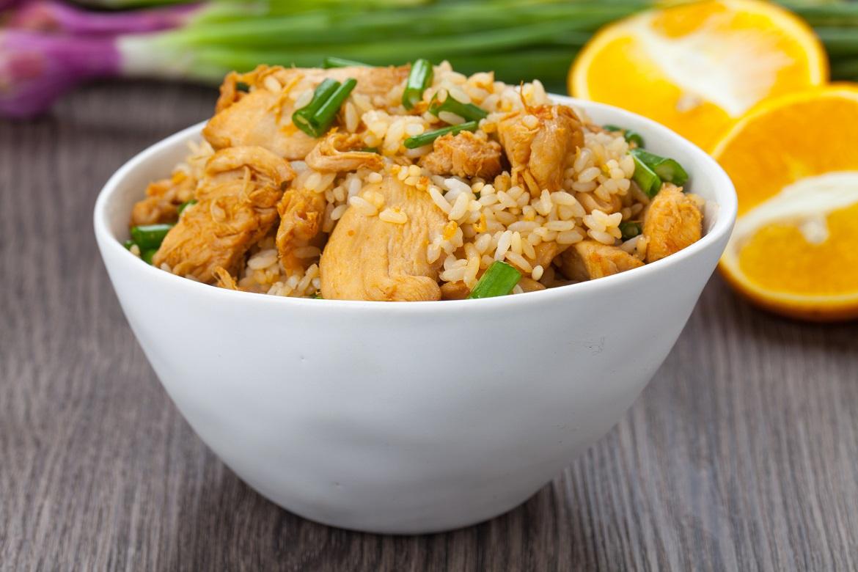 Lemongrass and orange chicken rice