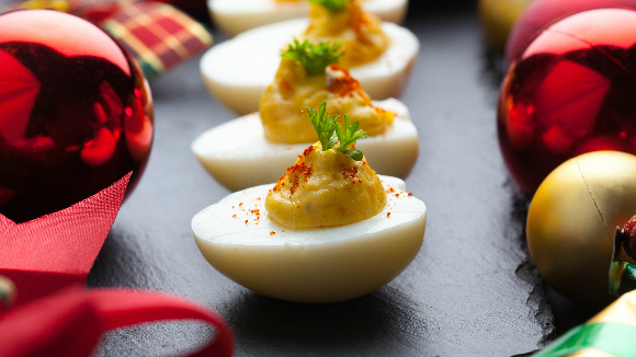 Spiced Masala Stuffed Eggs