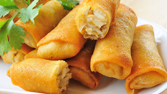 Mini Chicken Spring Rolls