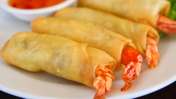 Sweet and Sour Prawn Spring Roll