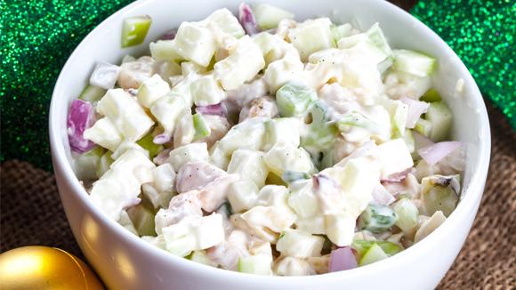 Roast chicken and apple nut salad