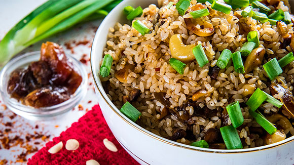 Savoury Date and Nut Rice