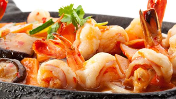Seafood in Yoghurt Gravy