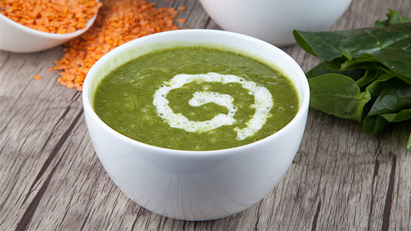 Dhal and spinach soup