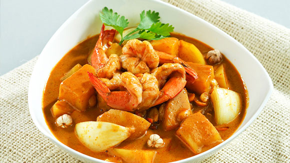 Sweet Pineapple Prawn Curry
