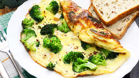 Broccoli and Cheese Omelette