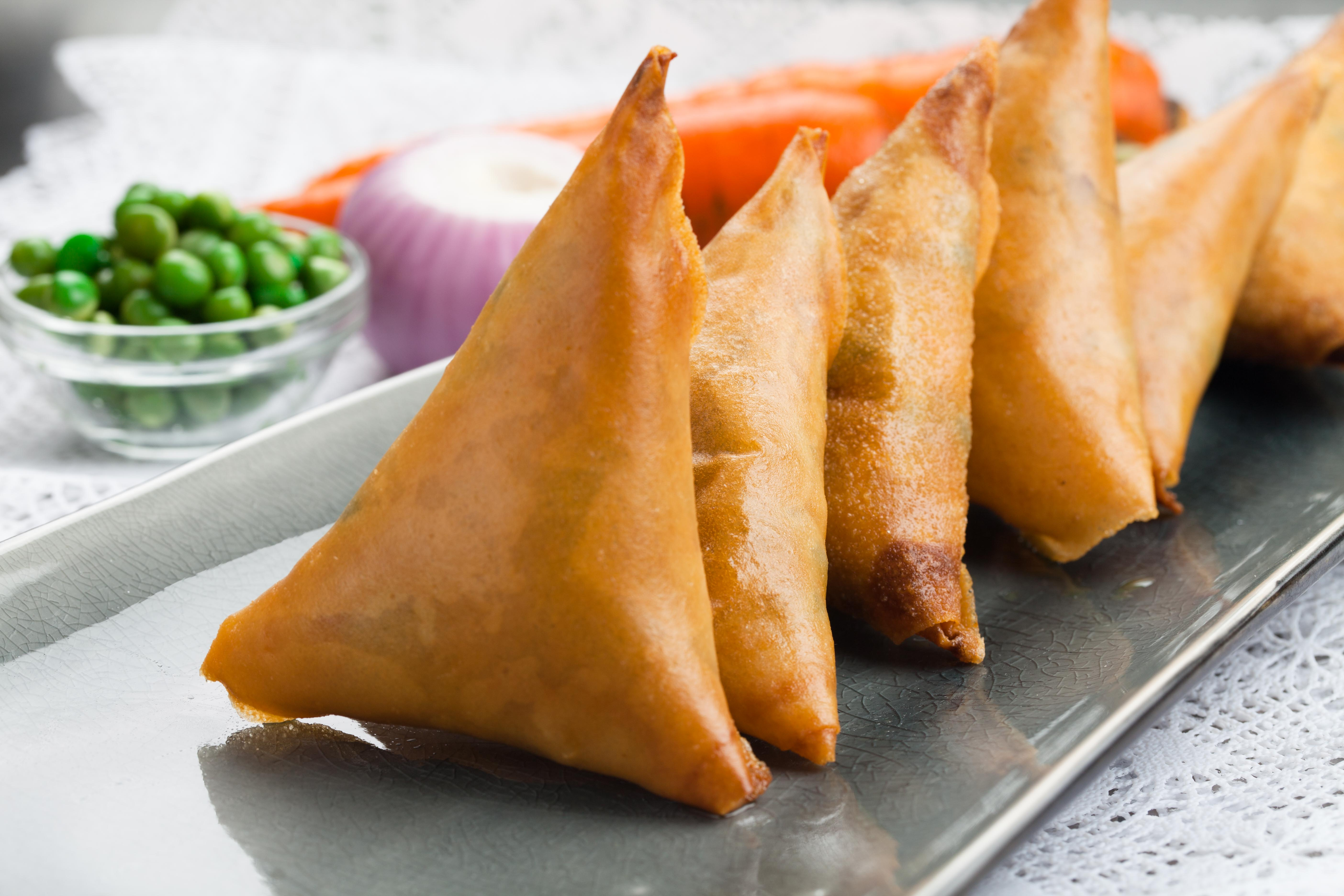 Curried Chicken Samosa