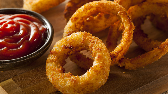 Batter-fried Hot Onion Rings