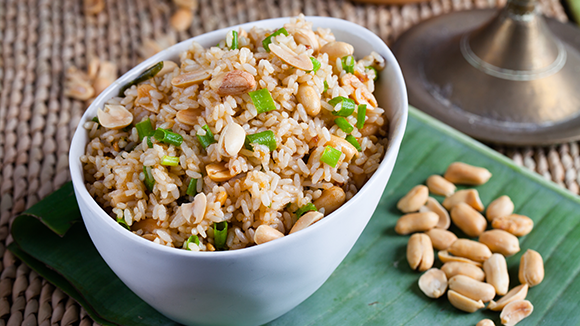 Peanut butter rice