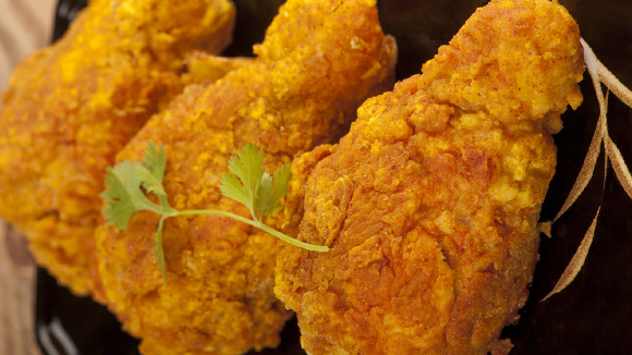 Red Hot Batter Fried Chicken Drumsticks