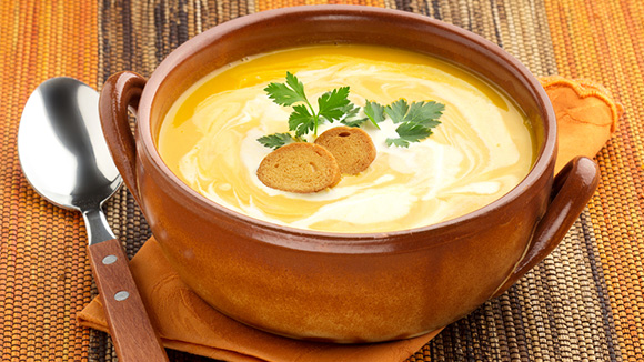 Sri Lankan Style Curried Sweet Potato Soup