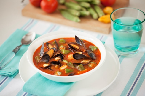 Seafood soup with Okra