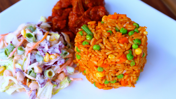 Jollof Rice With Mixed Vegetables