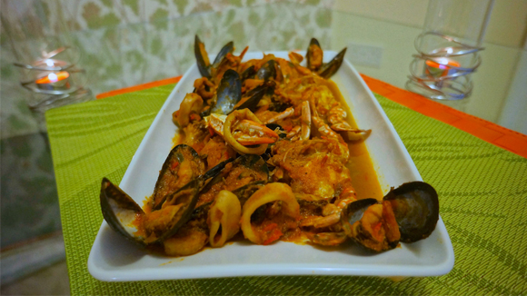 Mixed Sea Food/Mixed Vegetable Sauce