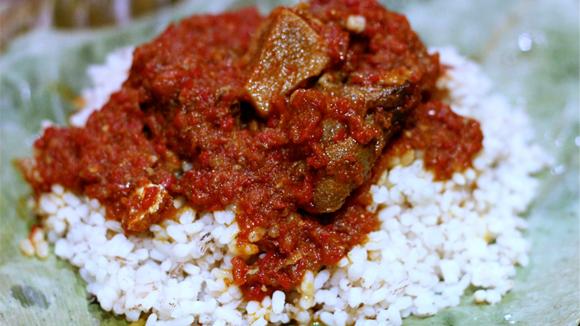 Ofada Rice And Beef Sauce
