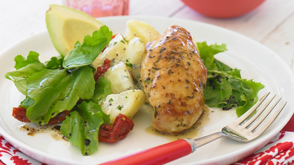 Lemon & Herb Chicken with Rocket & Potato Salad