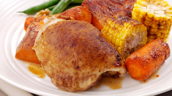 Roast Chicken with Sweet Potato