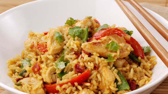 Stir-Fry Satay Rice
