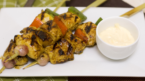 Flavorful Curry Chicken Kebab Recipe