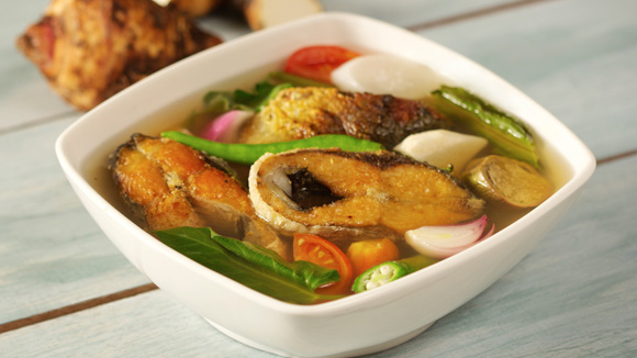 Sinigang na Fried Bangus Recipe