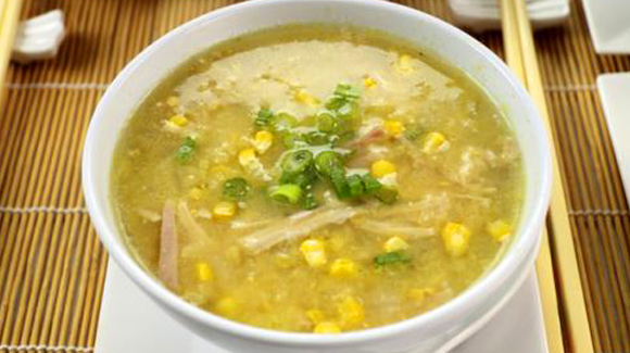 Chicken Corn and Ginger Soup