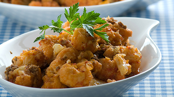 Sweet n Sour Cauliflower/ Bean and cashew stir fry