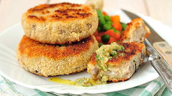 Chicken & Spring Vegetable Patties