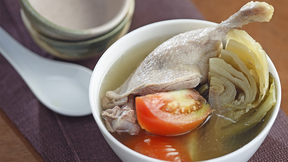 Salted Vegetable with Duck Soup